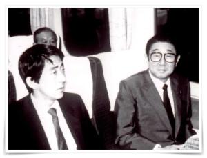 安倍晋三秘書時代の画像