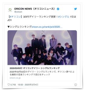 JO1 人気ない デビュー シングル 売上枚数 ファンクラブ 会員数