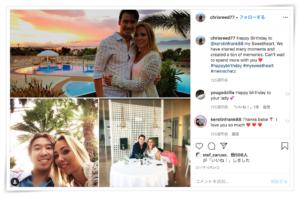 クリスリード 結婚 彼女 インスタグラム