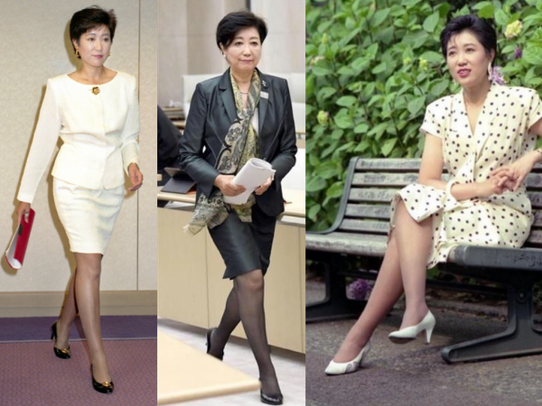 小池百合子のアナウンサー時代がかわいい!若い頃のミニ姿の足がきれいな画像
