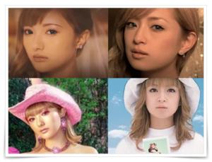 安斉かれんと浜崎あゆみの似ている画像