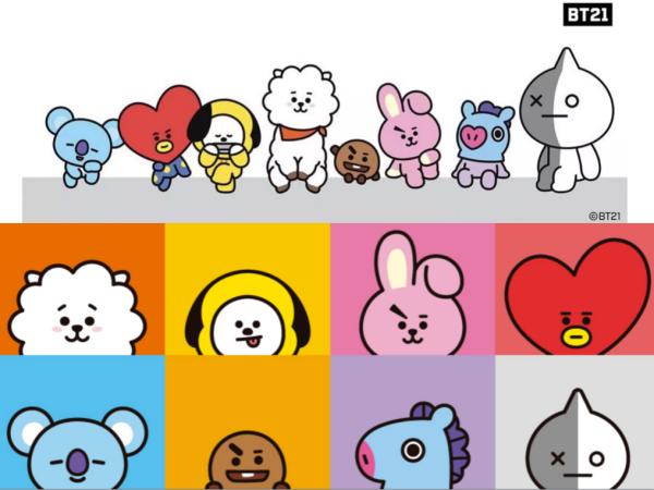 BT21,BTSメンバーキャラクターの読み方と担当