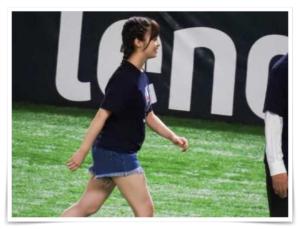2018年の太った橋本環奈の始球式画像