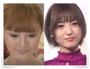安斉かれんと神田沙也加の似ている画像