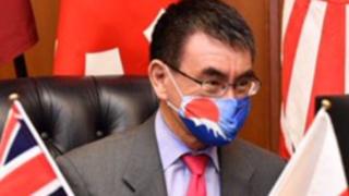 河野大臣マスク画像 型紙・作り方,自衛隊