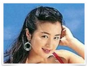 鈴木京香の若い頃のほくろ画像、カネボウキャンペーンガール