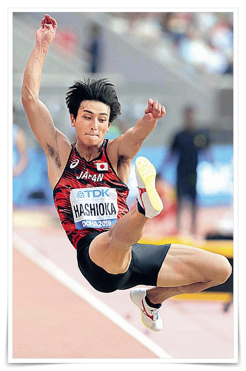 橋岡優輝の筋肉画像