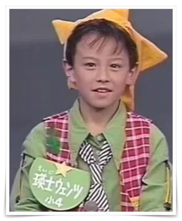 ウェンツ瑛士の子供時代の画像