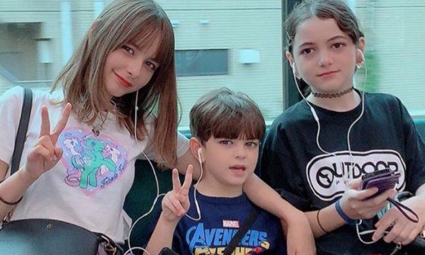 嵐莉菜の妹と弟のかわいい画像