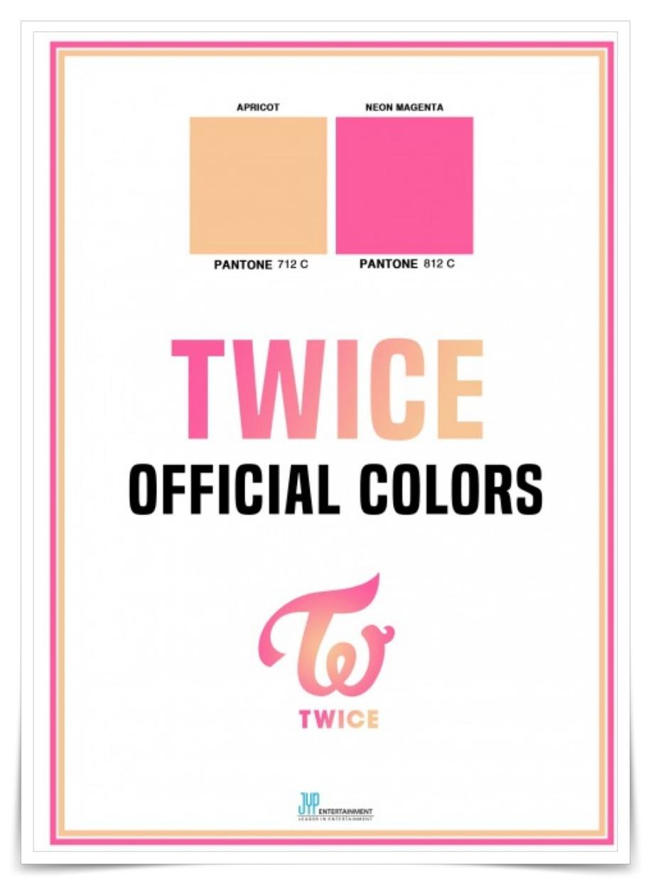 TWICEのグループカラー