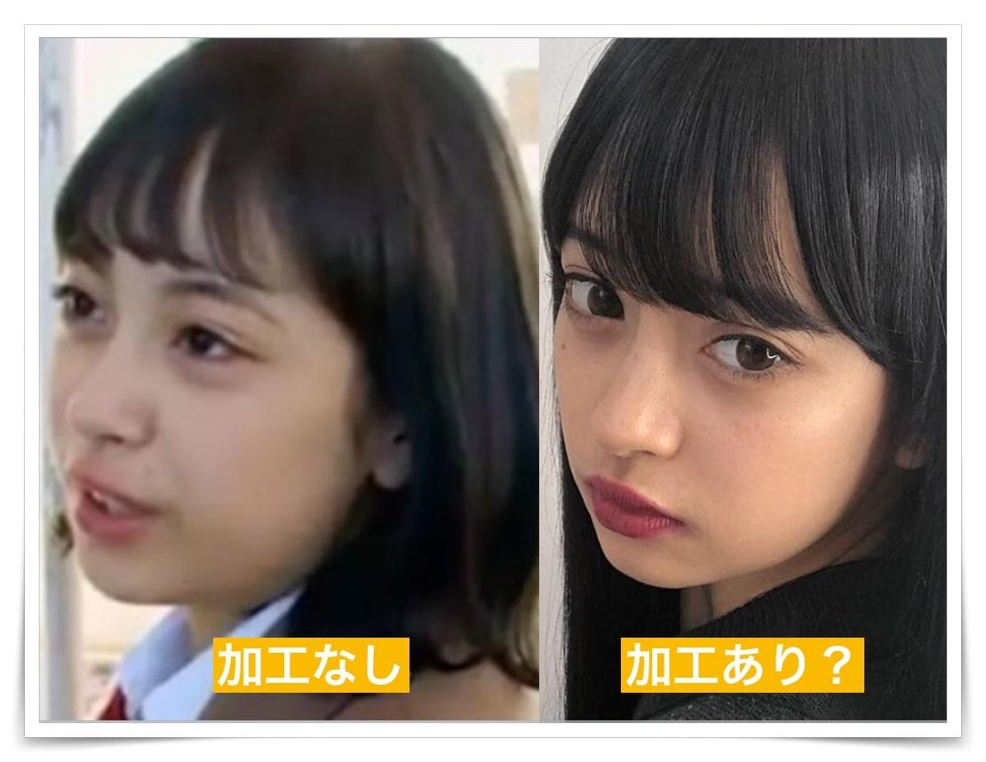 マリア愛子の顔加工前となし画像
