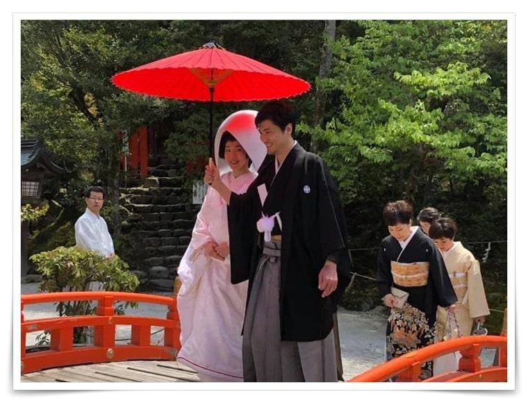 森山直太朗と嫁の平井真美子の京都の結婚式の画像