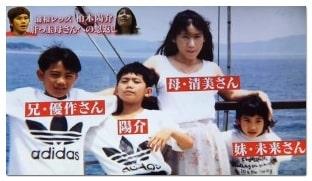 柏木陽介の家族の画像