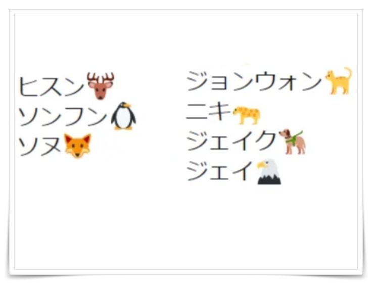 ENHYPEN(エンハイフン)メンバー動物絵文字