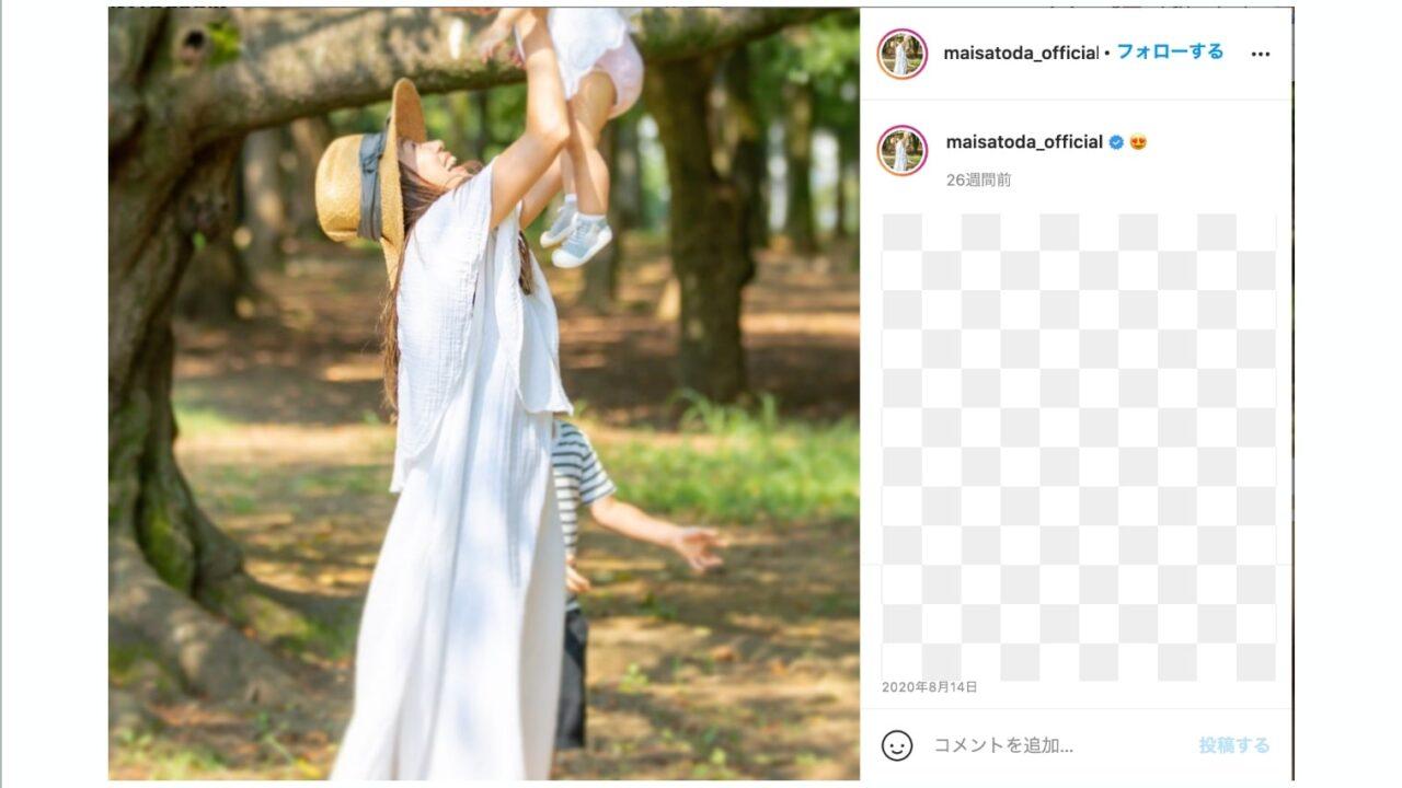 里田まいの子供の画像