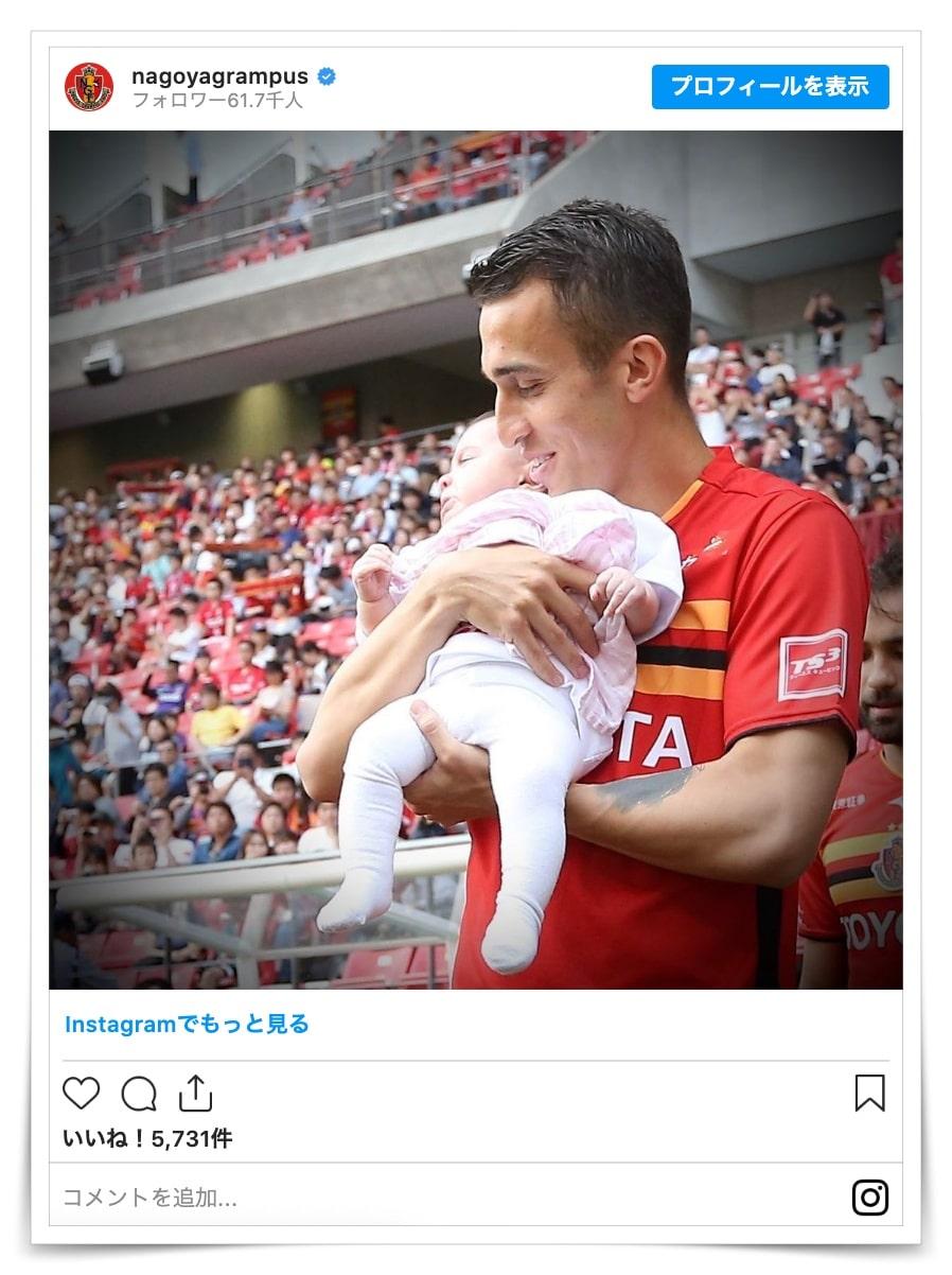 シミッチ選手の嫁と子供の画像