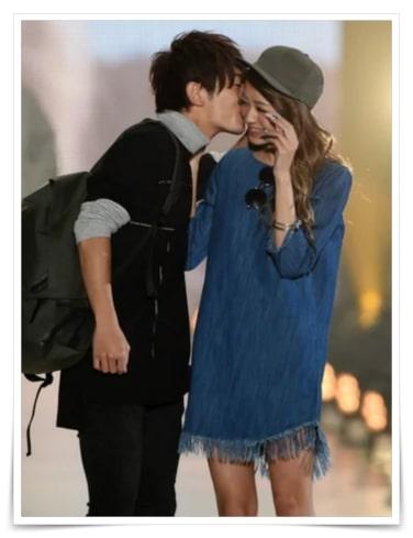 大倉士門とみちょぱのキス画像