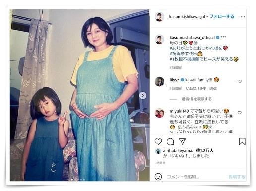 石川佳純、母親、現在、画像