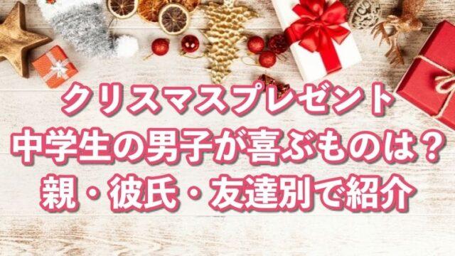 クリスマスプレゼント,中学生,男子,喜ぶ,親,彼氏,友達,嬉しい,おすすめ